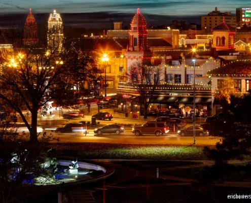 Kansas City Plaza Lights at Dusk