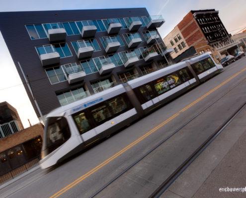 Main Streetcar Transit Line in Downtown Kansas City