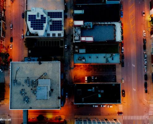 Kansas City Street Grid Aerial View