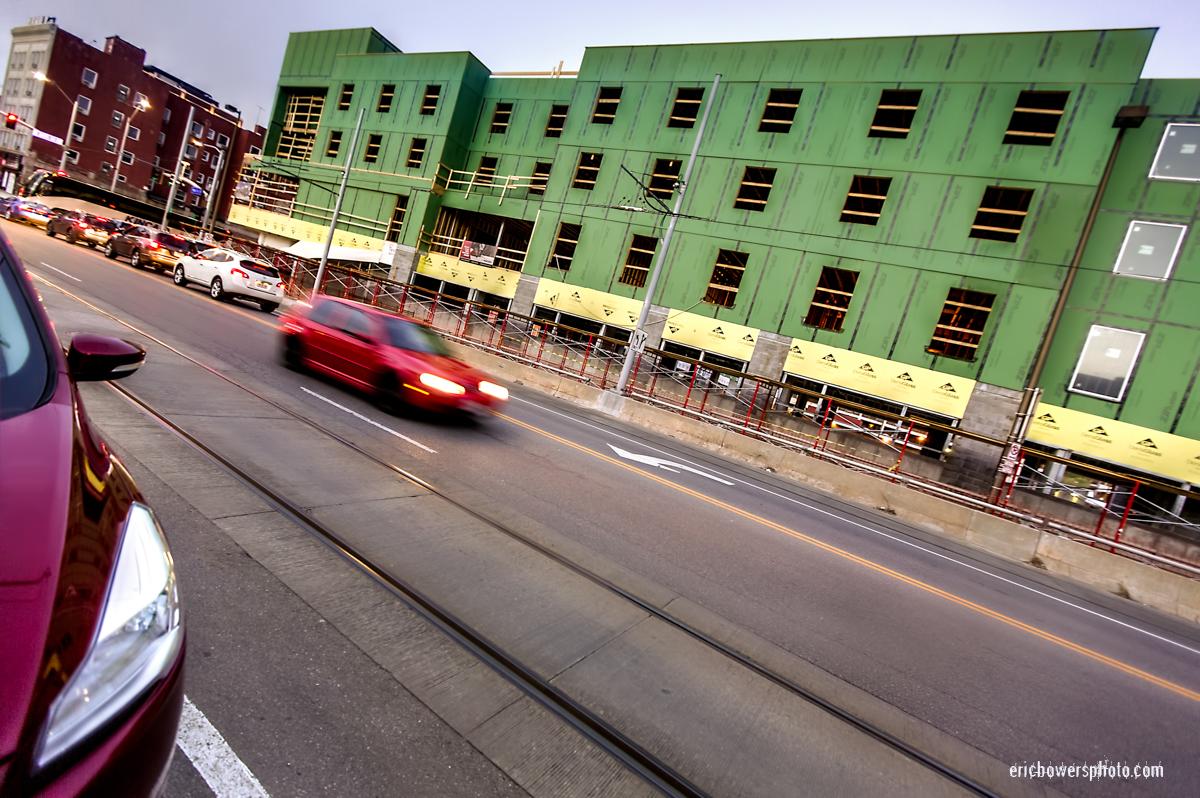Downtown KC Hilton Home2Suites Site Construction