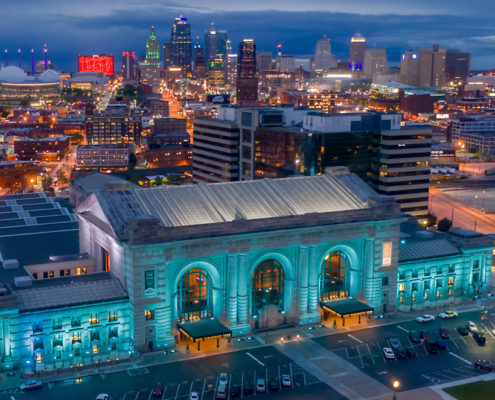 Downtown Kansas City Skyline with Union Station