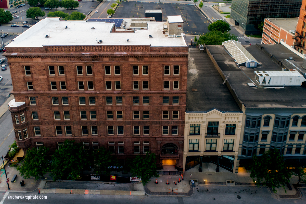 New England Building Exterior in Downtown KCMO