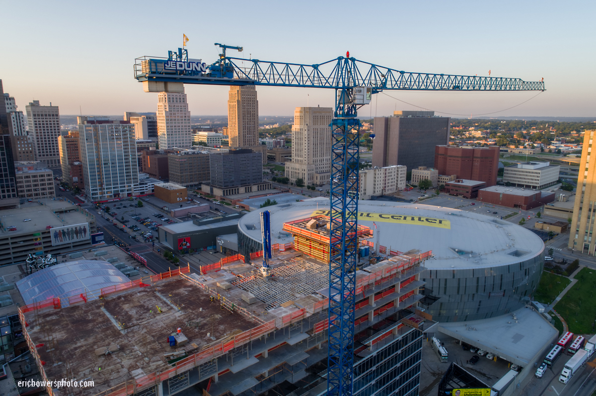 Construction Crane Drone Aerial Close Up Pics