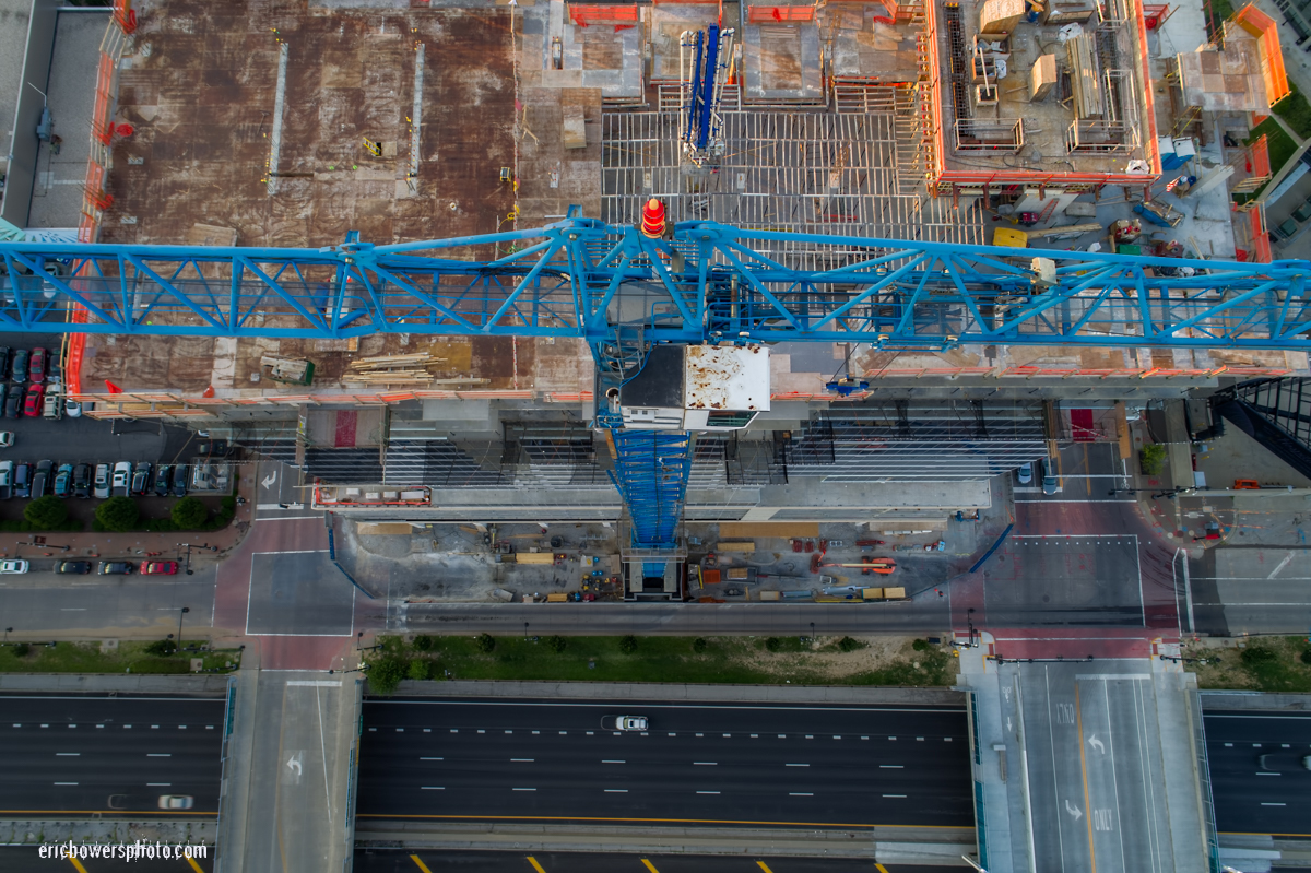 City Intersection & Building Downward Views From A Drone