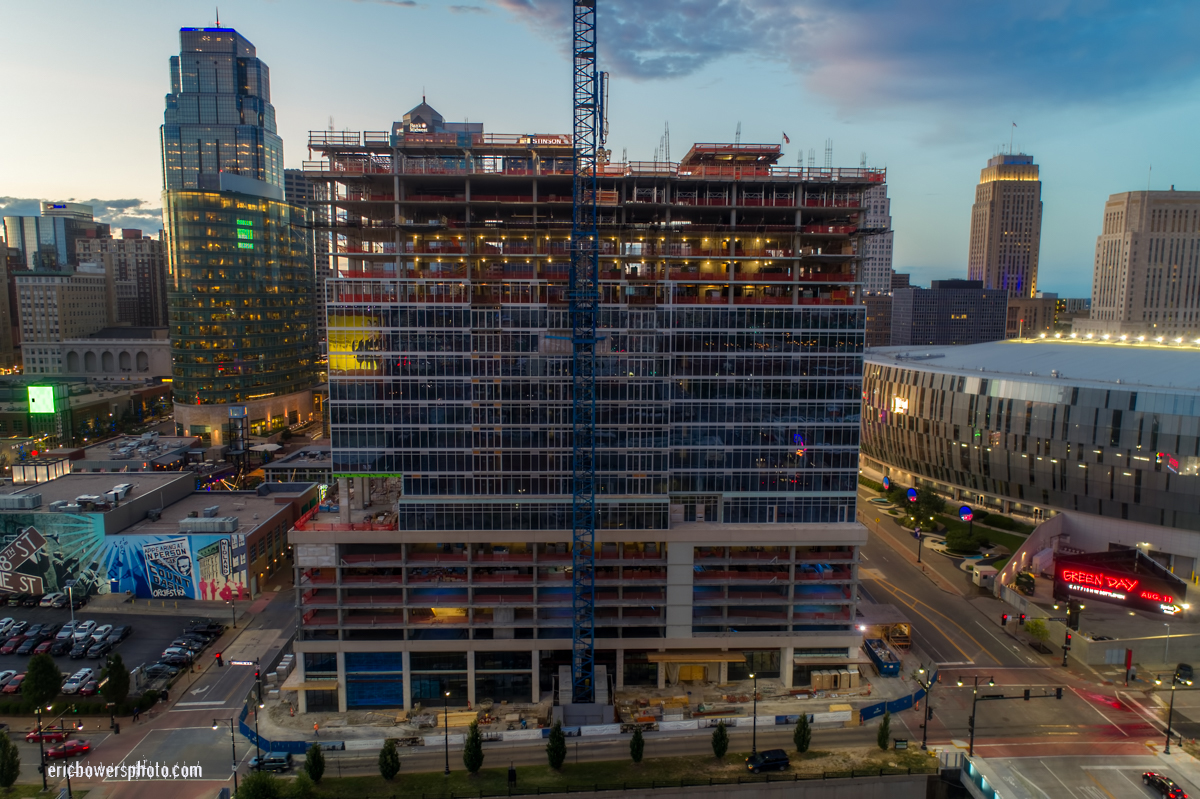 Two Light Tower Construction in Kansas City