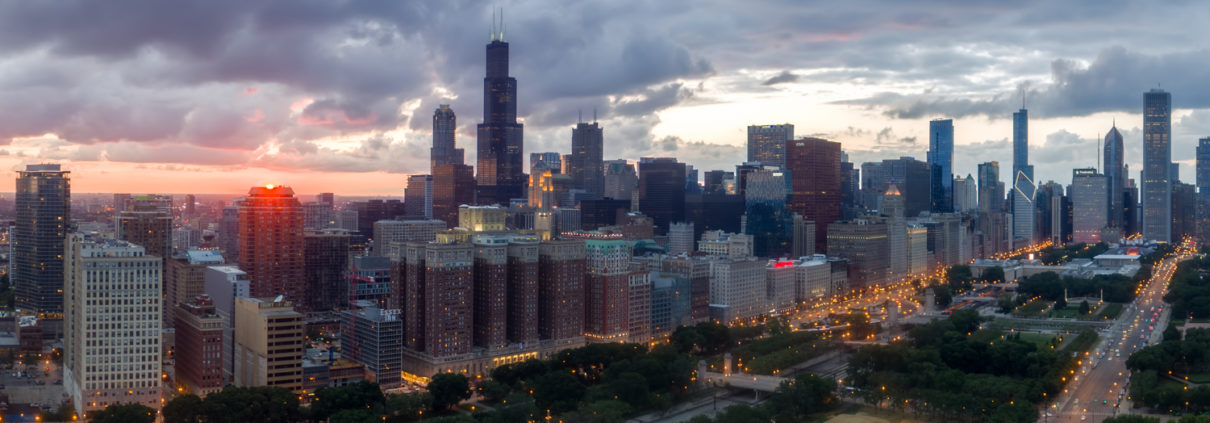 Chicago Loop Skyline Aerial Photo