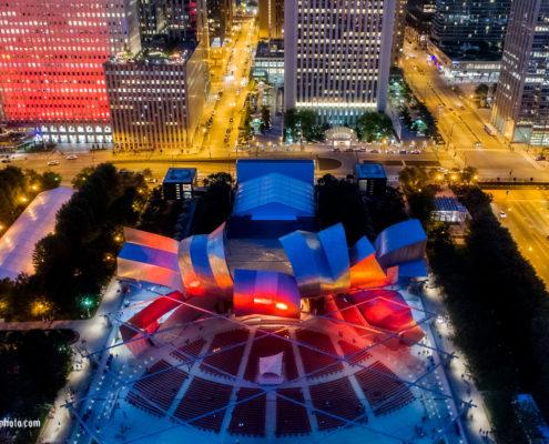 Pritzker Pavilion in Millenium Park Chicago