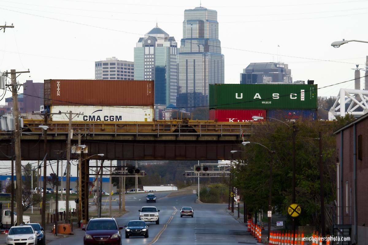 Kansas City Missouri View from Kansas Avenue in Kansas City Kansas