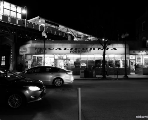 Chicago at Night: Logan Square at California Avenue