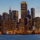Chicago North Loop Skyscraper View from Navy Pier