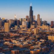 Chicago City Skyline Aerial Photos Pt 15