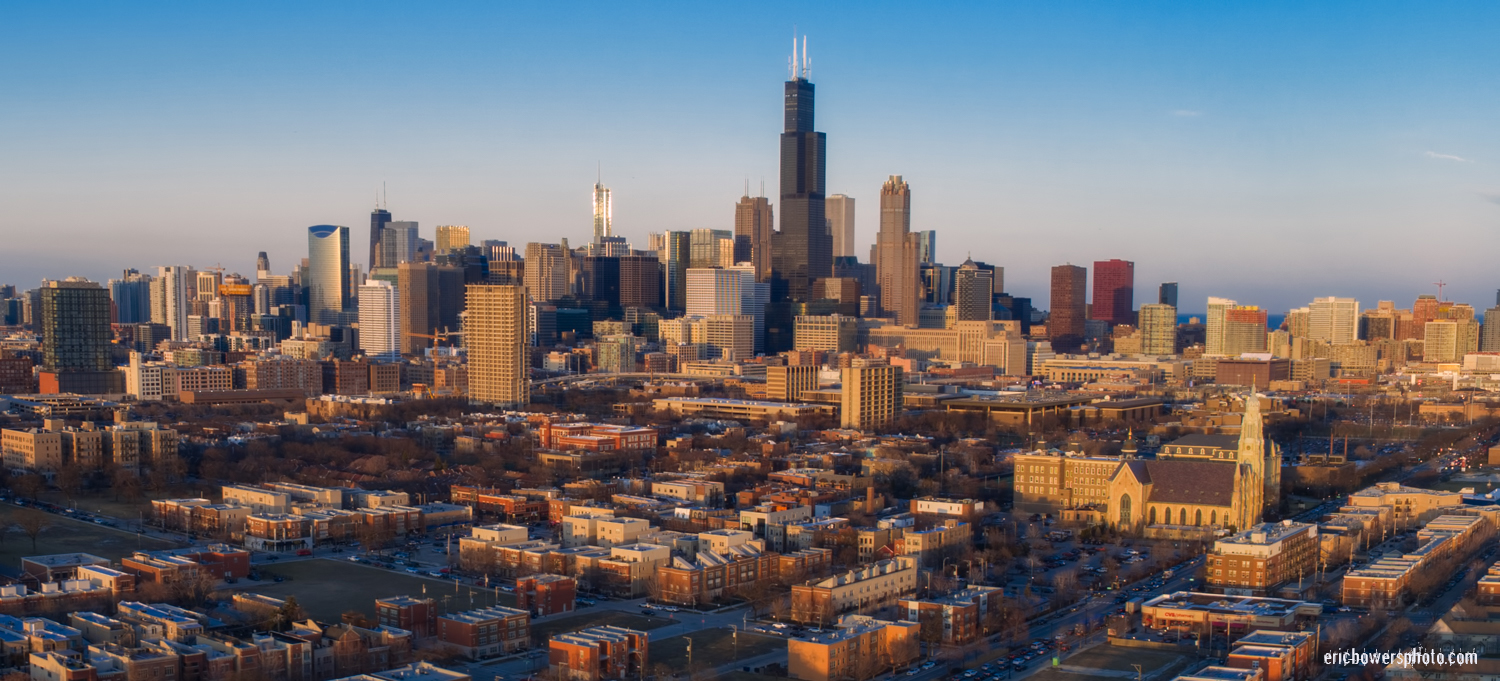 Chicago City Skyline Aerial Photos Pt 15