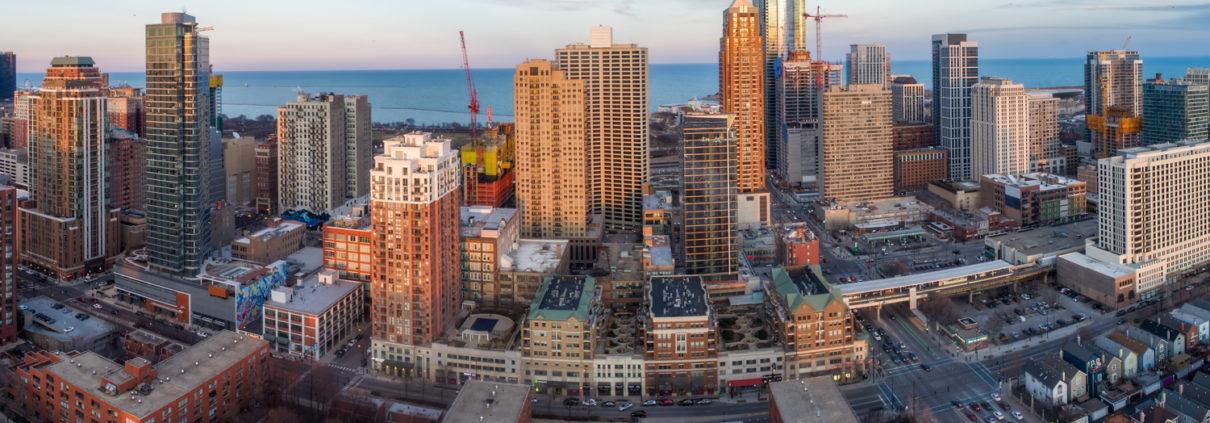 Chicago City Skyline Aerial Photos Pt 9