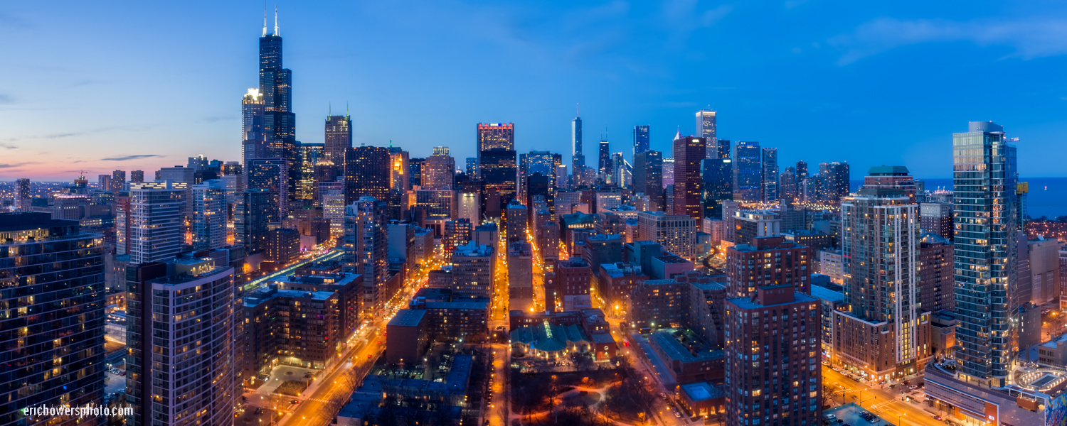 Chicago City Skyline Aerial Photos Pt 7