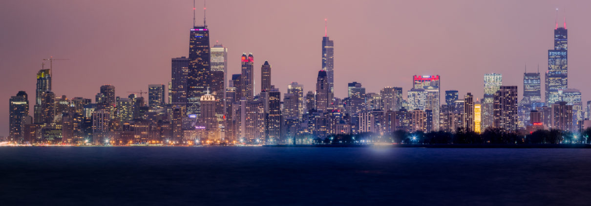 Chicago City Skyline at Night Pt 2