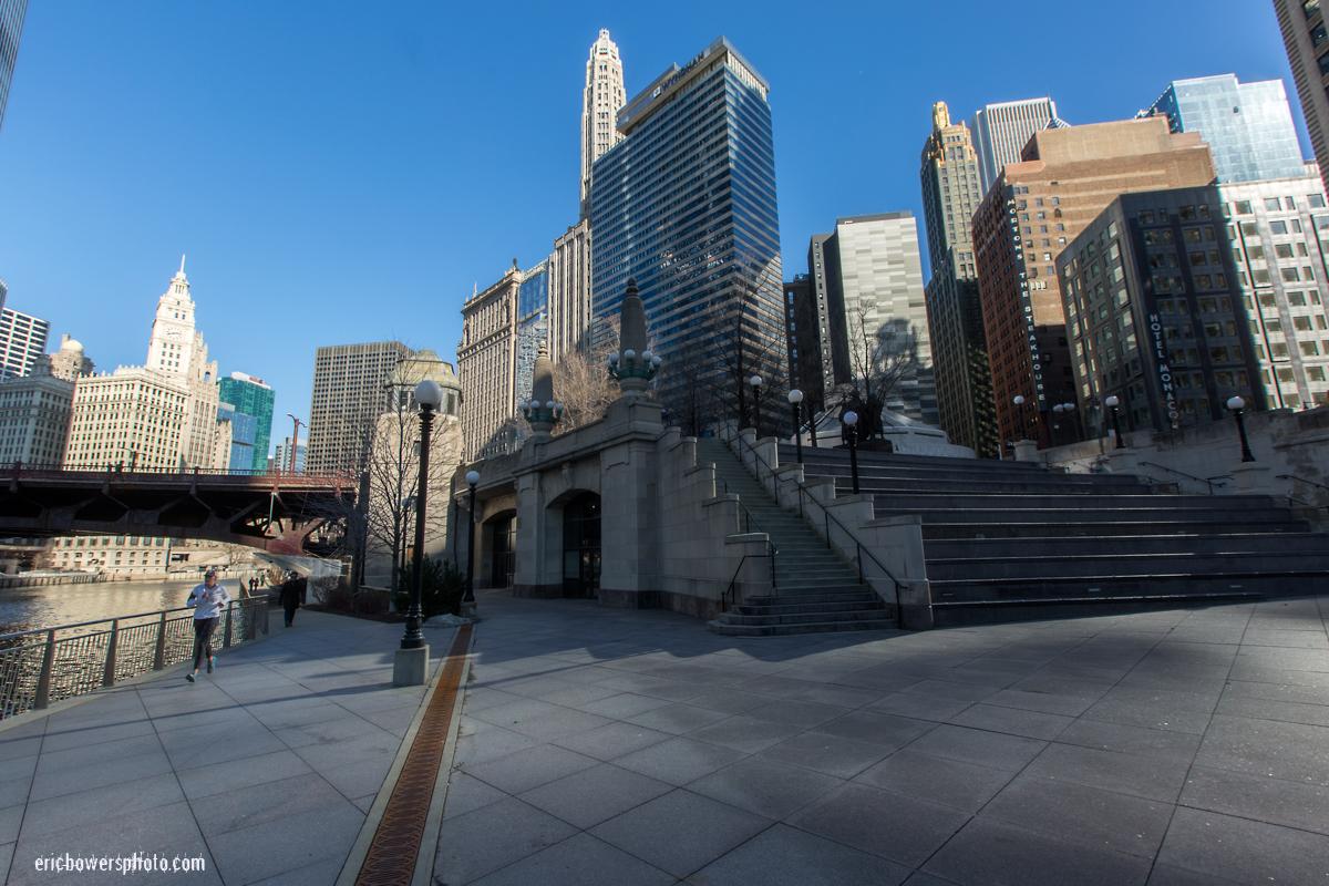 Chicago Riverwalk Near Michigan Avenue