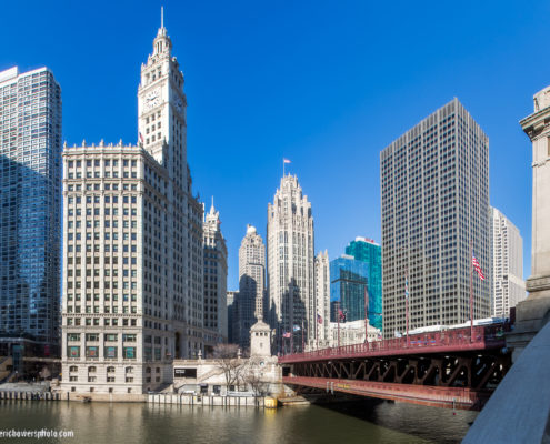Chicago River and Michigan Avenue Daytime View