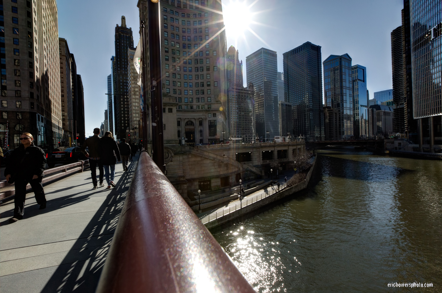 Chicago River at Dusable Bridge and Michigan Avenue