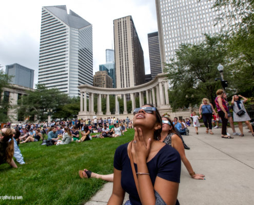 Millennium Park Chicago 2017 Solar Eclipse Viewing