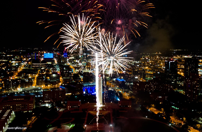 Memorial Day Fireworks at Liberty Memorial Kansas City