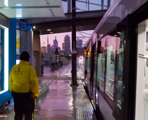 Downtown CID Worker at Union Station Streetcar Stop