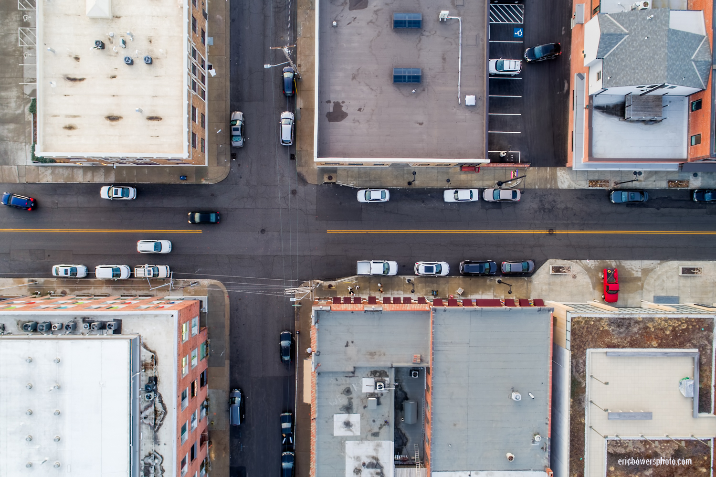 Kansas City Street Grid Aerial