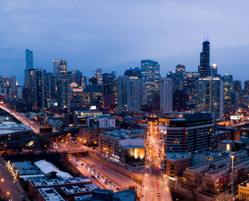 Chicago City Skyline Aerial Photos Pt 17