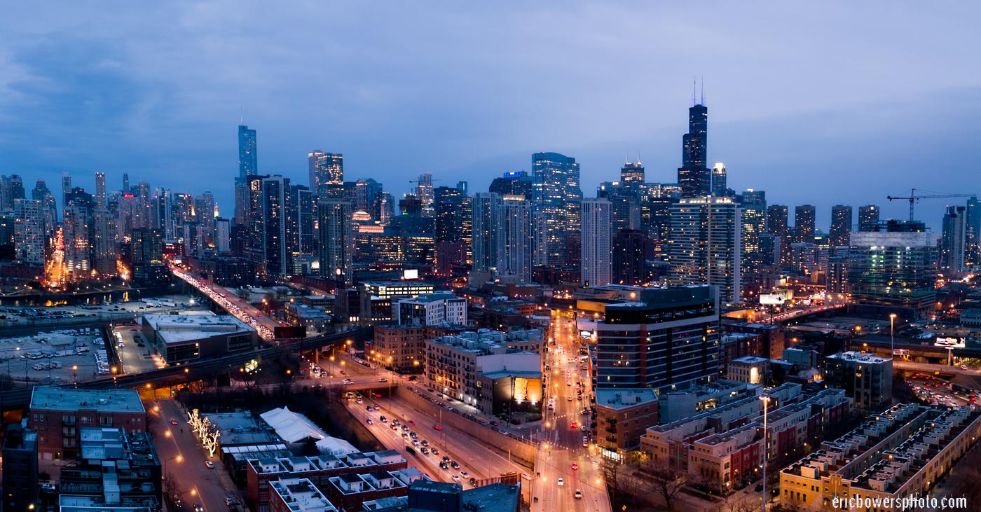 Chicago City Skyline Aerial Photos Pt 17