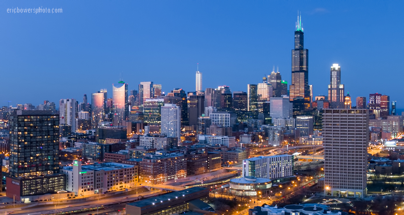 Chicago City Skyline Aerial Photos Pt 16