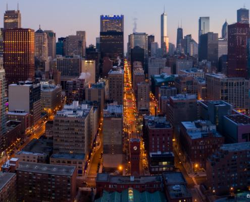 Chicago City Skyline Aerial Photos Pt 19