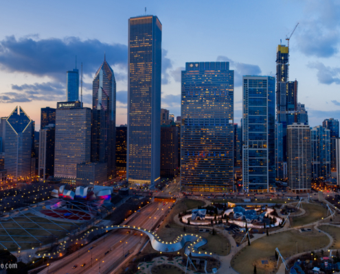 Chicago City Skyline Aerial Photos Part 20