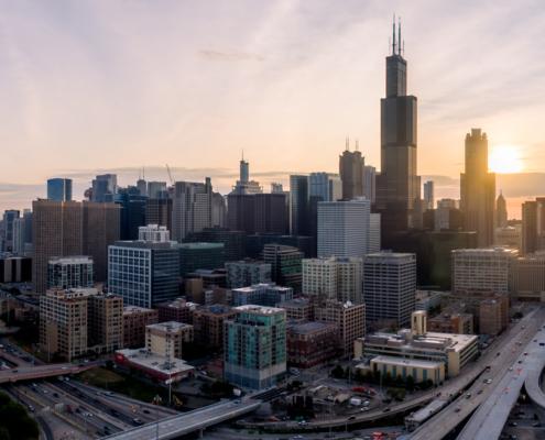 Chicago Loop at Daybreak in 2019