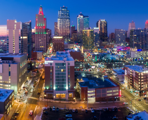Kansas City Loews Hotel with Downtown Skyline (2)