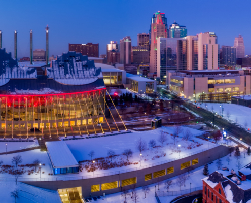 Kansas City Loews Hotel with Kauffman Center (2)