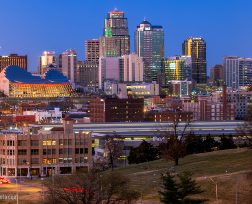 Kansas City Skyline Late 2019 and Early 2020