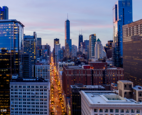 Chicago Aerial Above Pritzker Park