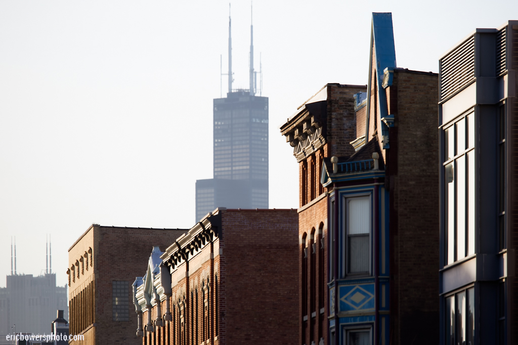 Chicago Sears Tower From Wicker Park