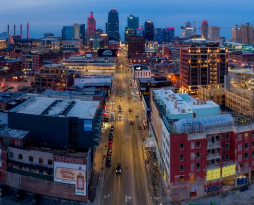 Kansas City Above 20th & Main in 2020
