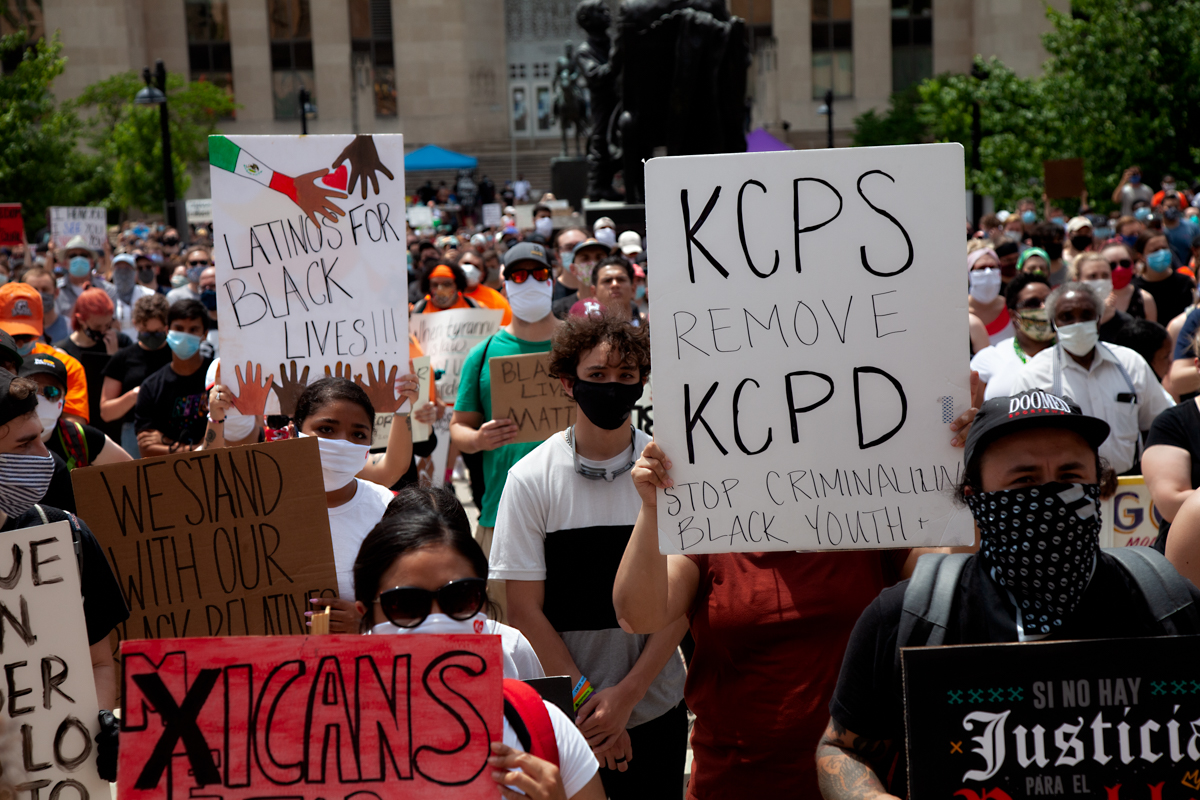 Black Lives Matter Protest at Kansas City Hall