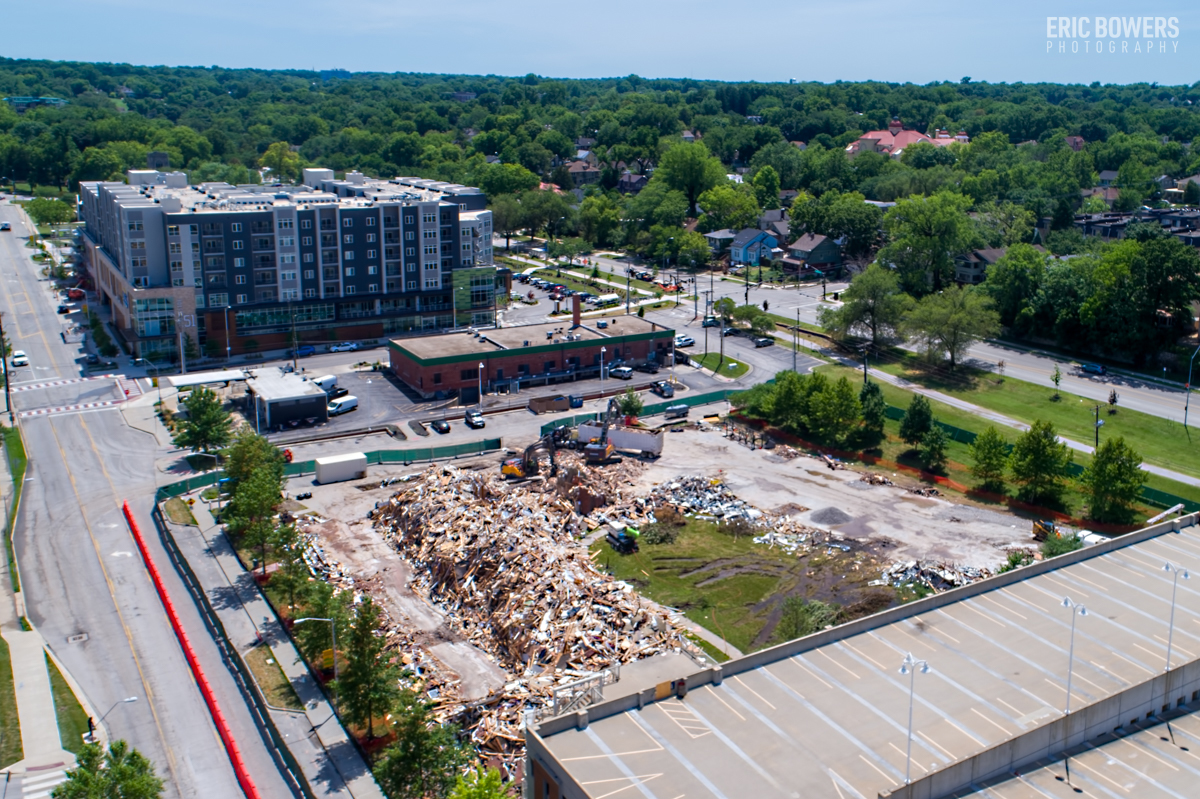 Demolition of UMKC Student Apartments