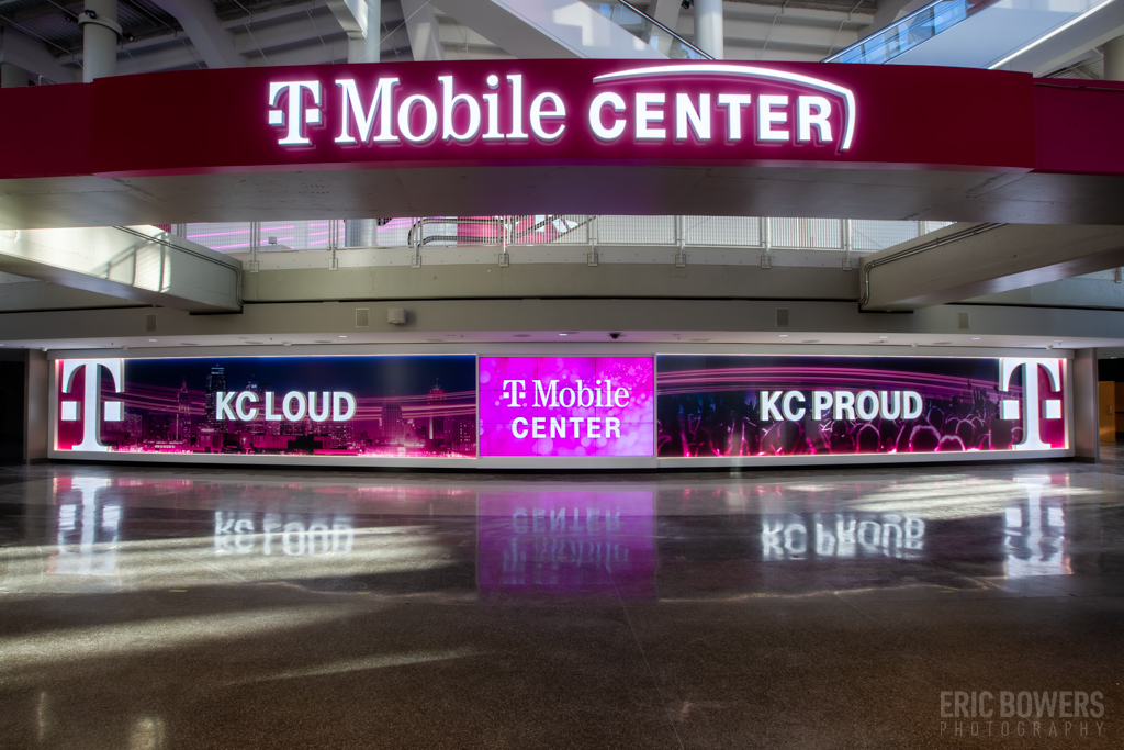 Image Placement at T-Mobile Center Lobby