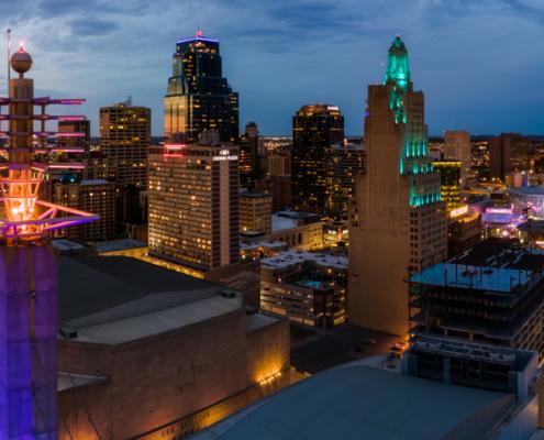 Kansas City Skystation and Downtown Skyline