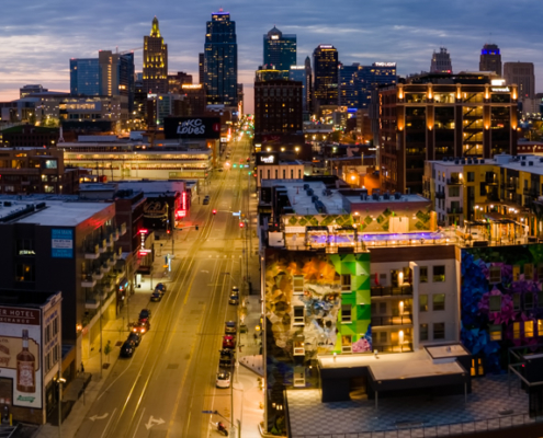 KCMO Crossroads District Aerial