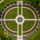 Loose Park Rose Garden Aerial