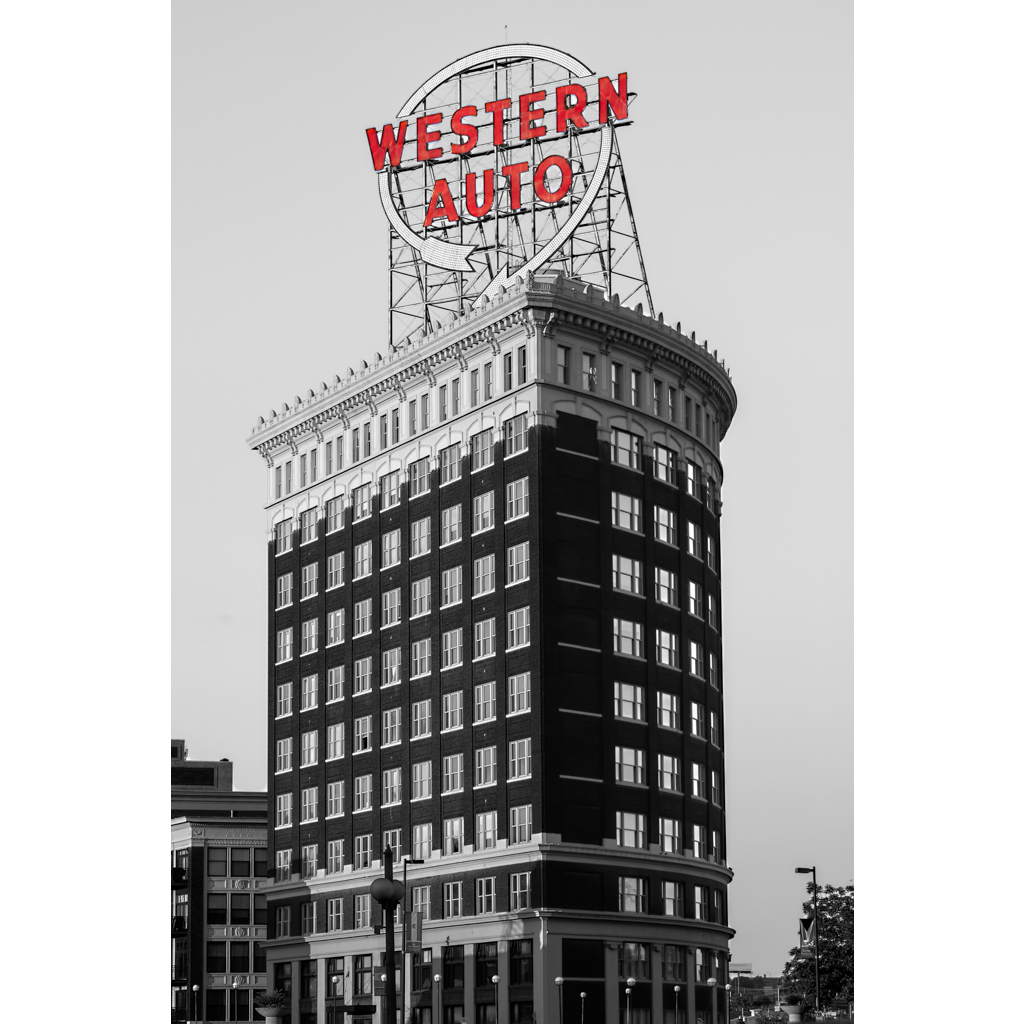 Western Auto Sign Proof of Product